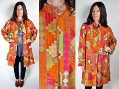 Vintage 70s Indian Phulkari Embroidered Jacket by PrismOfThreads