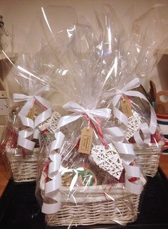 Vintage christmas hampers with homemade treats