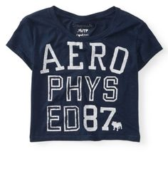 Cropped Aero Phys Ed Graphic T L Aeropostale Online Clearance$8(a short t-shirt,too! I think they are cute:)