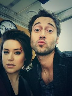 Megan Boone and Ryan Eggold from The Blacklist - I'm absolutely LOVING this show!!