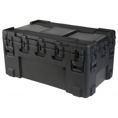 "SKB Roto Mil-Std Waterproof Case 24"" Deep. Waterproof and dust tight design (MIL-C-4150J). LLDPE Polyethylene impact resistant. UV, solvents, corrosion, fungus resistant (MIL-STD-810F). Pressure relief / breather valves. Resistant to impact damage (MIL-STD-810F). Stainless steel latches and hinges."