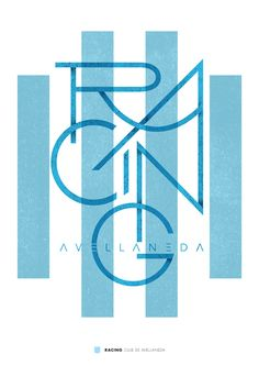 Racing Club of Argentina wallpaper. Typography Quotes, Typography Letters, Graphic Design Typography, Graphic Design Illustration, Branding Design, Lettering, Club, Soccer Art, Football Wallpaper