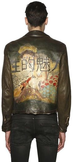 Hand Painted Leather Motorcycle Jacket https://api.shopstyle.com/action/apiVisitRetailer?id=527561125&pid=uid8100-34415590-43