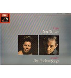 EMI - ASD 2721  Elgar - Sea Pictures; Mahler - Five Ruckert Songs: Sir John Barbirolli {Vinyl LP record}