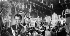 On the opening night of the Republican National Convention, Donald J. Trump was conspicuously trying to conjure somebody else: Richard M. Nixon.
