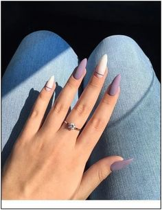 Matte and taupe nails Inspirational women - . - Matte and taupe nails Inspirational ladies - Almond Acrylic Nails, Best Acrylic Nails, Acrylic Nail Designs, Short Almond Nails, Almond Nail Art, Short Nails, Aycrlic Nails, Matte Nails, Hair And Nails