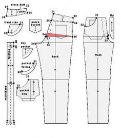 Classic Jeans Design.  A little complicated but once you print the instructions with the drawings will probably make sense.  What wouldn't I do for PERFECT FITTING JEANS!