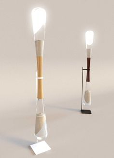 Hourglass lamps powered by sand