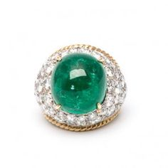 1960's Van Cleef & Arpels Emerald and Diamond Ring
