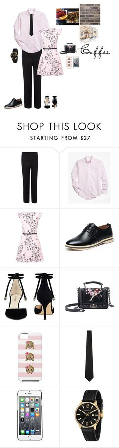 """""""Cafe Date (Couple Set)"""" by krcsummerson on Polyvore featuring Brooks Brothers, Miss Selfridge, Nine West, The Kooples, Kenzo and James McCabe"""