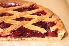 A Very Cherry Pie with Bread Dough