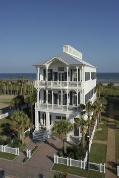 Beachtown Galveston - Real Estate - Homes - Beachfront - 2721 E. Beach Cottage Style, Beach House Decor, Home Decor, Coastal Homes, Coastal Living, Beach Homes, Lake Homes, Villas, Porches