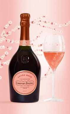 A perfect combo. Champagne and fashion. Laurent Perrier Cuvée Rosé.