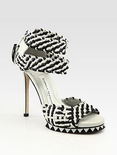 Betting the woven ankle strap gets uncomfortable after a while but I'm willing to suffer for fashion.