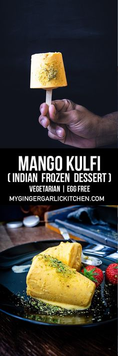 Mango kulfi is a traditional, rich, and creamy frozen dessert from India. Learn to make no cook mango kulfi recipe with step-by-step video instructions. Indian Dessert Recipes, Indian Sweets, Mango Kulfi, Kulfi Recipe, Ice Cream Recipes, Frozen Treats, Easy Desserts, The Help, Food Photography