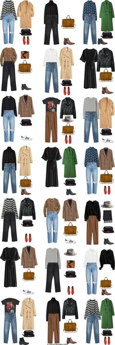 A Simple Fall Capsule Wardrobe Fall Wardrobe Fall Capsule All Season Capsule Wardrobe Travel Light Livelovesara Fashion Mode, Fashion Outfits, Womens Fashion, Girl Fashion, Black Silk Blouse, Fall Capsule Wardrobe, Mode Jeans, Minimalist Wardrobe, Mode Style