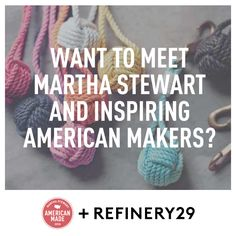 Enter for a chance to win a trip to the Martha Stewart 2014 American Made Awards #refinery29