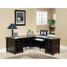 Kathy ireland kathy ireland Home by Martin Tribeca Loft Cherry L-Shaped Desk Item # HN-MAI251 Hayneedle  $1750