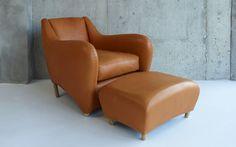 Balzac armchair and ottoman