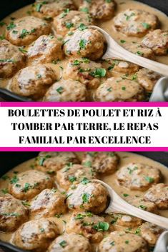 Chicken dumplings and rice to die for the family meal par excellence Fall Crockpot Recipes, Best Dinner Recipes, Classic French Dishes, Italian Chicken Recipes, Healthy Family Dinners, Fish And Meat, Football Food, Healthy Cooking, Food Inspiration
