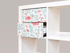 "IKEA EXPEDIT (KALLAX) Möbelsticker ""Flamingos"" von yourdea auf DaWanda.com"
