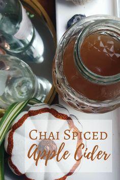 Chai Spiced Apple Cider Recipe - The Witch of Lupine Hollow Spiced Apple Cider, Spiced Apples, Fall Recipes, New Recipes, Drink Recipes, Vegan Recipes, Masala Chai, Garam Masala, Refreshing Drinks