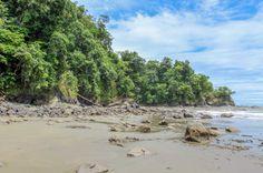 Ventanas Beach rocks Dominical, Costa Rica #beach #waves