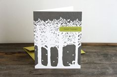 Grey forest thank you card design Thank You Card Design, Thank You Cards, Gift Cards, Your Cards, Greeting Cards, Thankful, Graphic Design, Gifts, Grey