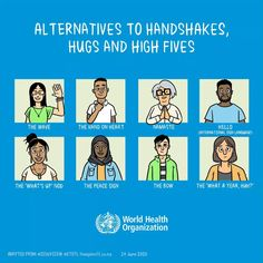Alternatives to handshakes, hugs and high fives during #COVID19 International Sign Language, School Reopen, Encouragement, Hugs, Social Stories, High Five, School Counselor, Lessons For Kids, Classroom Management