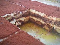 """Η Συνταγή είναι από κ.  Tzela Antonopoulou  – """"ΟΙ ΧΡΥΣΟΧΕΡΕΣ / ΗΔΕΣ"""".    Υλικά  4 πακέτα σαβουαγιαρ    Για το σιρόπι  1 1/2 ποτήρι ζάχαρη  2 1/2 ποτήρια νερό  5 κ.σ καφέ στιγμής( Νες καφέ)  4 κ.σ κακάο  1 σφηνάκι κονιάκ    Για την κρέμα  600"""