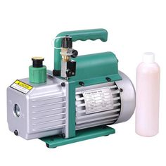 3 CFM 1-Stage AC Refrigerant Air Conditioner Vacuum Pump Green