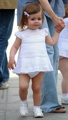Delicate Crochet Baby Dress Pattern Free. More Great Patterns Like This
