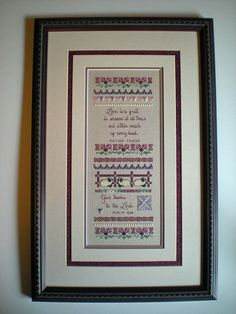 Cross Stitch Sampler Pattern Spring's Grace Sampler door Moosemom