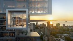 Glass will wrap the protruding volumes to offer uninterrupted views.