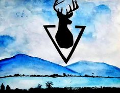 Deer above the mountains