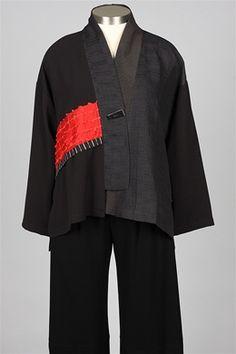 A La Mode - Kimono Jacket - Black $248 Ikina jacket without side plackets