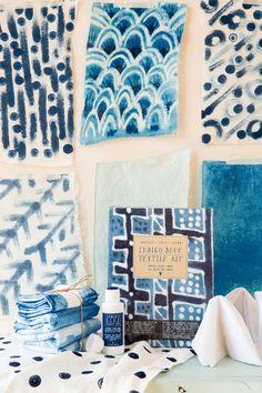 Indigo Blue Textile Kit