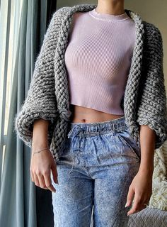 Super Chunky Slouchy Shrug | The Snugglery | A Place for Yarn Lovers