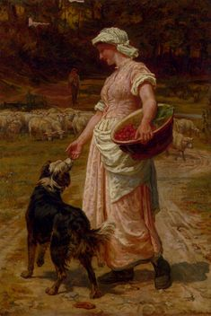 Frederick Morgan Love Me, Love My Dog painting Free worldwide Shipping - paintingsframe.com