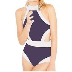 Partiss Damen Rueckenfrei Bikini Einteiliger Badeanzug