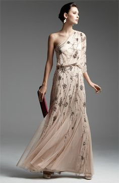 Adrianna Papell Beaded One Shoulder Gown | Nordstrom (mother of the bride?)