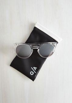Forecast a Glance Sunglasses in Crystal | Mod Retro Vintage Sunglasses | ModCloth.com