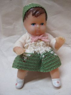 Girl Baby Doll German Miniature Vintage by vintagejewelryalcove