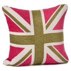 Commonwealth Pillow in Fuchsia & Green