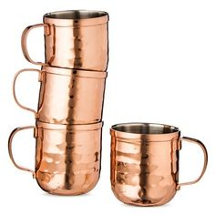 Moscow Mule Mug Shot Glasses 2oz Stainless Steel/Copper Finish Set of 4 - Threshold™ : Target