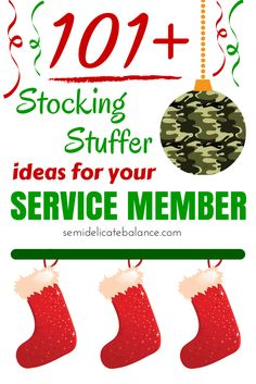 101+ Best Stocking Stuffers Ideas for your Service Member, Christmas, Holiday, Gift Ideas