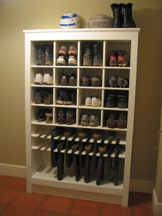 Enough room for him, and I like the boot storage. Must keep this one in mine for. Enough room for him, and I like the boot storage. Must keep this one in mine for remodel of closet. Now where do I put my shoes. Shoe Storage Design, Boot Storage, Rack Design, Shoe Storage Large Family, Shoe Storage In Mudroom, Understairs Shoe Storage, Storage For Shoes, Shoe Storage Display, Utility Room Storage
