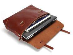Selvaggio Reddish Brown Leather Messenger Bag 16