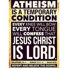 Repent and believe the Gospel. The Bible says that one day, every knee will bow and every tongue confess that Jesus Christ is Lord. Christian Faith, Christian Quotes, Christian Church, Repent And Believe, All That Matters, Jesus Is Lord, Bible Scriptures, Bible Quotes, Jesus Quotes
