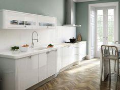 pared pìntura cocina color verde